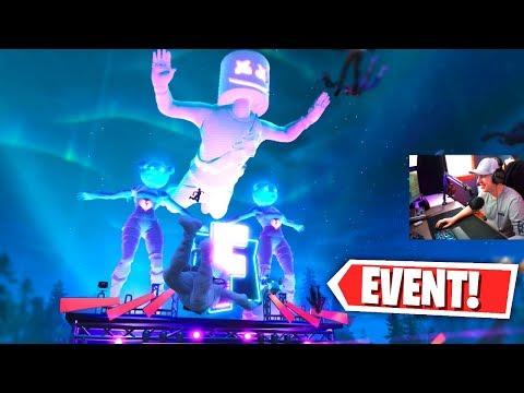 REACTING to the MARSHMELLO FORTNITE EVENT! (EPIC FORTNITE CONCERT) thumbnail