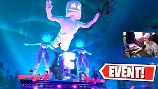 REACTING to the MARSHMELLO FORTNITE EVENT! (EPIC FORTNITE CONCERT)