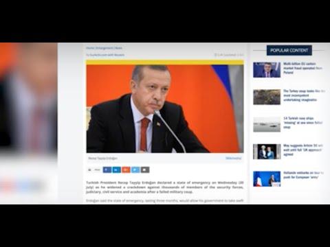 Turkey- Turkish President Erdogan Declares State of Emergency
