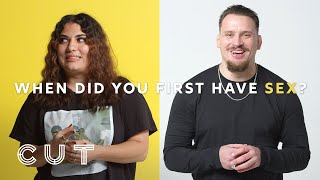 Exes Describe the First Time They Had Sex With Each Other | Cut