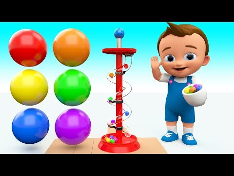 Ba Learning Colors for Children with Color Balls Slider Wooden ToySet 3D Kids Fun Play Educational