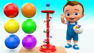 Baby Learning Colors for Children with Color Balls Slider Wooden ToySet 3D Kids Fun Play Educational