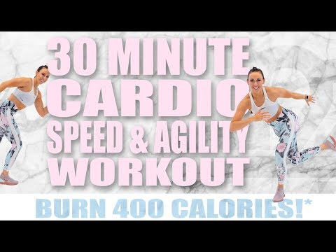 30 Minute Cardio Speed And Agility Workout 🔥Burn 400 Calories! 🔥Sydney Cummings