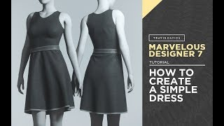 Marvelous Designer 7 - How To Create A Simple Dress