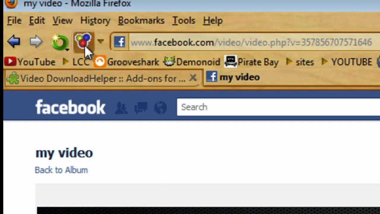 download entire facebook album firefox