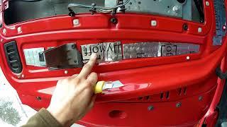 Шумоизоляция,виброизоляция,теплоизоляция дверей.Автомобиль Вольво ФШ(Volvo FH).Материал Шумофф.Авто