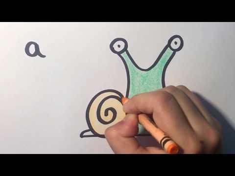 ÇOK KOLAY! HARFLERDEN HAYVAN NASIL ÇİZILIR? l How to draw animals out of letters