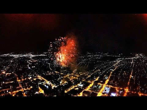 4th of July 2015 - Downtown Fort Wayne Drone Fireworks