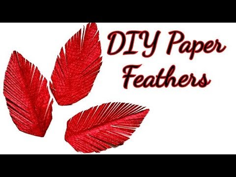 diy paper feathers || paper feathers || paper feathers craft || bird paper feathers || easy craft