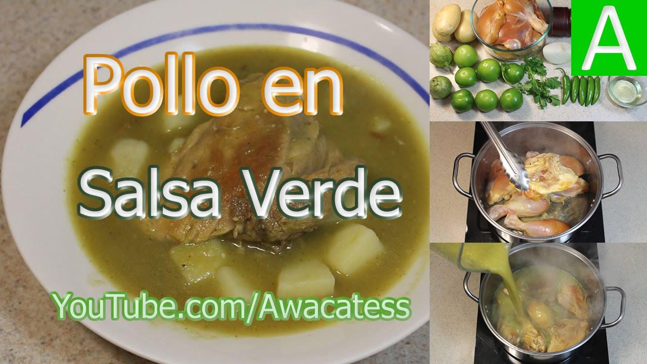 Pollo en Salsa Verde con Papas. Recetas de Comidas faciles y ...