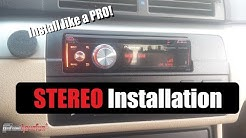 How to Install a Car Stereo / Car Deck / Head Unit Installation (with Butt Connectors) | AnthonyJ350