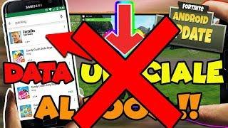 FORTNITE mobile ANDROID - E' VERA la DATA di USCITA ?! Ci hanno TRUFFATI !!