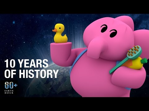 Pocoyo and EARTH HOUR through the years | 10th ANNIVERSARY
