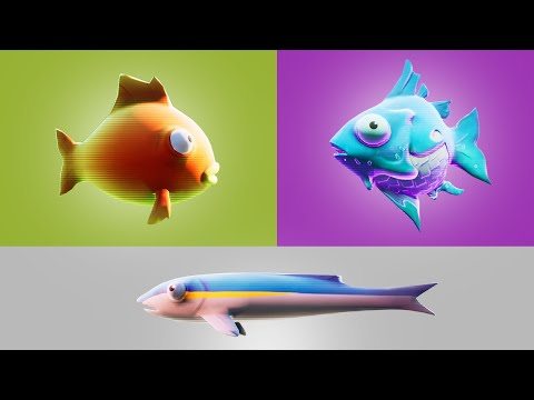 Gain Health with a Small Fry, a Flopper and a Slurp Fish (All Fish Locations in Fortnite) thumbnail