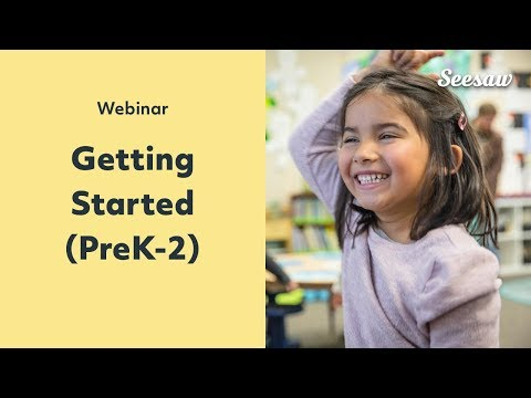 Getting Started With Seesaw In Grades PreK To 2 (PD In Your PJs)