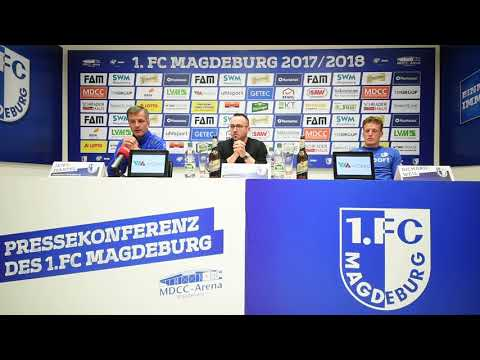 Pressekonferenz vor dem Spiel 1. FC Magdeburg gegen SpVgg Unterhaching
