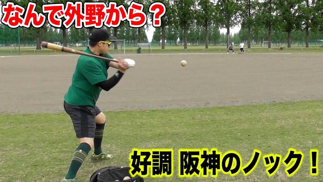 好調阪神が実践する奇想天外なノック!なんでそこから打つの?