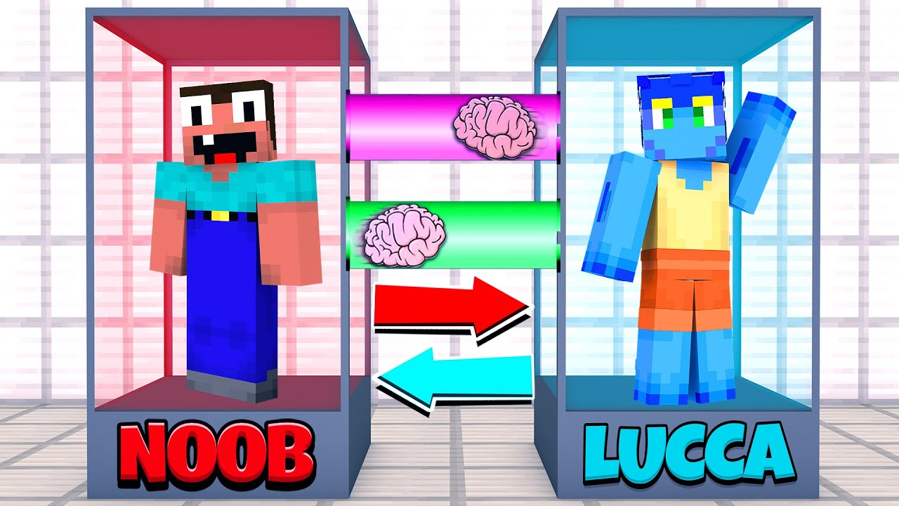 Minecraft NOOB vs LUCA BRAIN EXCHANGE! NOOB BECAME a SCARY LUCA in Minecraft! Animation!