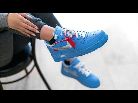 How Nike and Off White SCREWED US | NIKE X OFF WHITE MCA AIR FORCE 1 BLUE ON FEET REVIEW