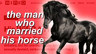 the man who was in a polyamorous relationship with his horse
