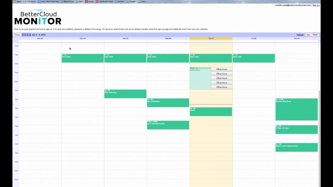 how to add appointments to google calendar