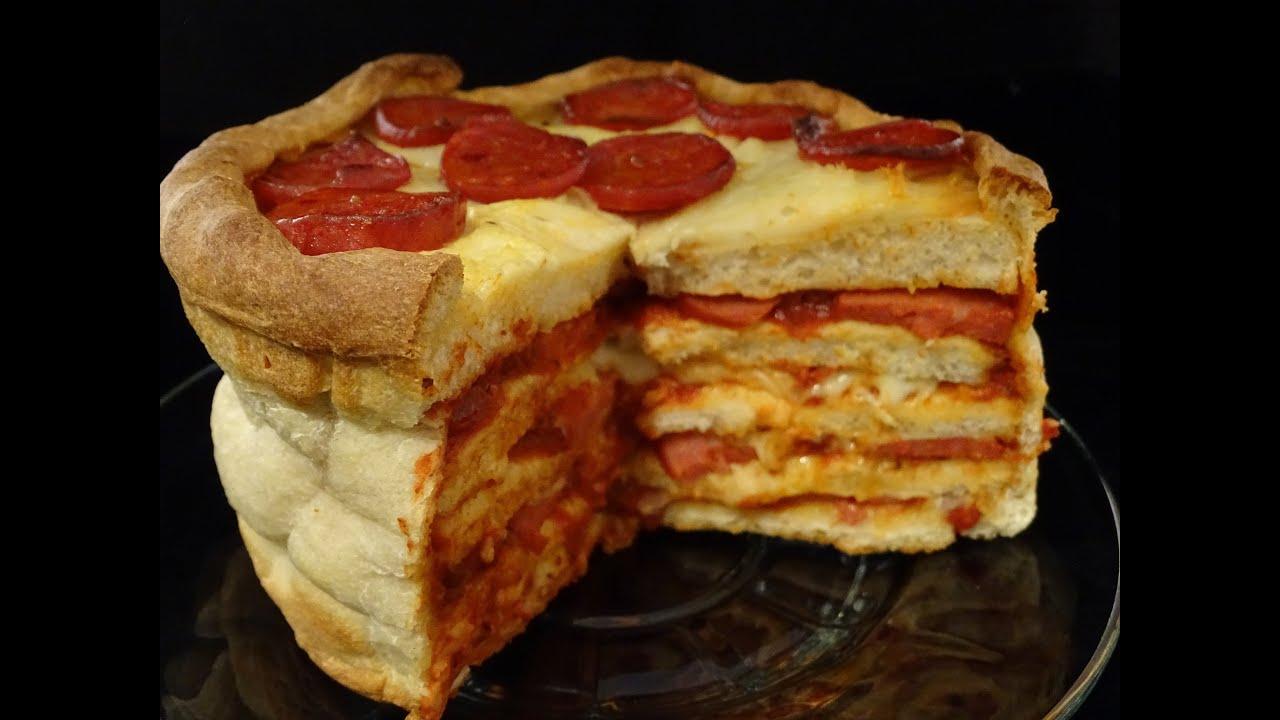 Pepperoni Pizza Birthday Cake