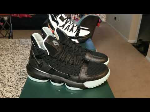 Lebron 16 Glow and remix on foot - YouTube