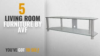Top 10 Avf Living Room Furniture [2018]: AVF SDC1400CMCC-A TV Stand with Cable Management for up to