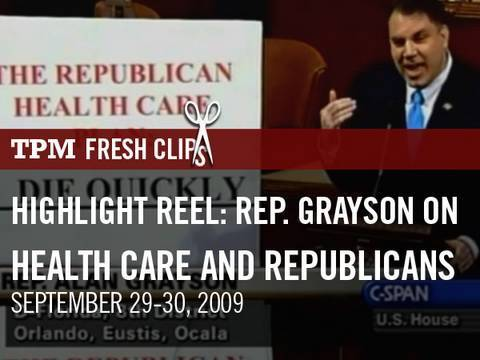 TPMtv Highlight Reel: Grayson on Health Care and Republicans
