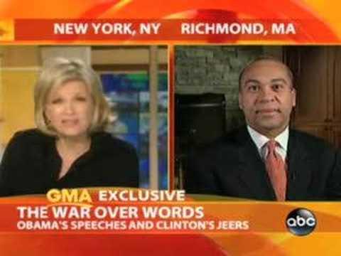 ABC's Diane Sawyer asks Deval Patrick about Obama's words