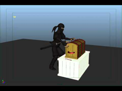 """Animation test """"Frustrated Ninja"""" By Gil Marquez"""