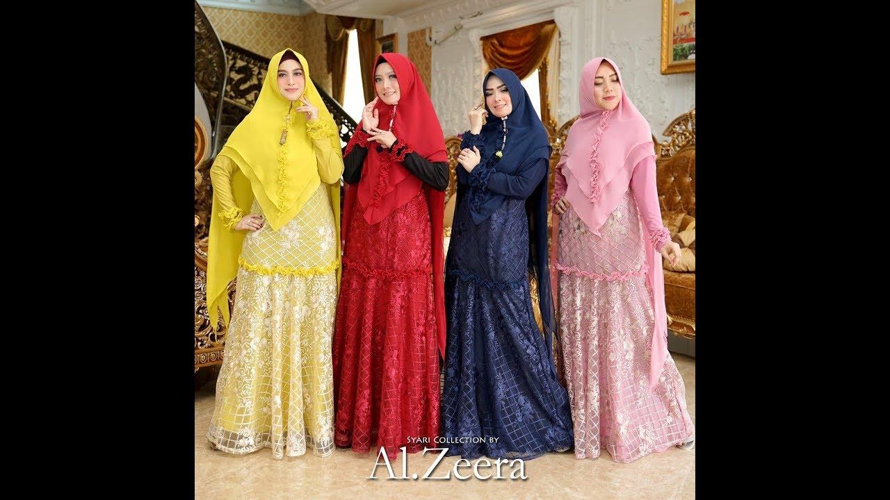 Model Busana Muslim Syari Modern Terbaru 2019 2020 Trend Jubah Dress Gamis Syari Modern Youtube