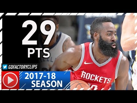 James Harden Full Highlights vs Grizzlies (2017.11.18) - 29 Pts, 7 Ast, TOO EASY!