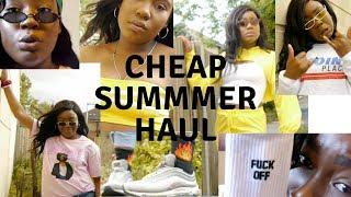 CHEAP SUMMER CLOTHING HAUL 2018 | Gracieoo