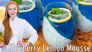 Blueberry Lemon Mousse Parfaits