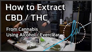 How to Extract CBD/THC from Cannabis with Alcohol/Everclear