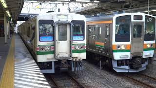 107系 定期運用 高崎駅発最終列車(625M 高崎発伊勢崎行き・775M 回送列車)2017年9月30日
