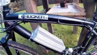 DIY 36v 15ah lithium ion 18650 Ebike Battery, Bike test pt5