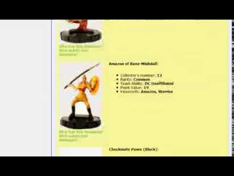 HeroClix - The Brave and the Bold miniature list