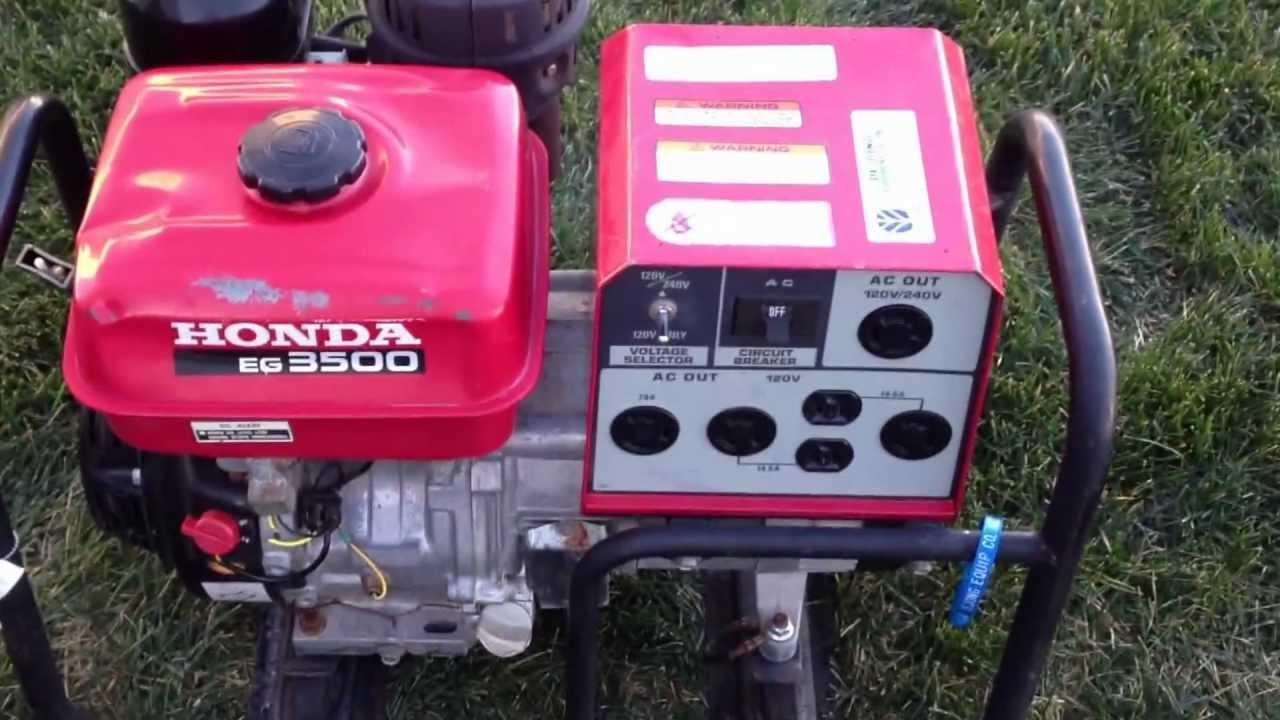 Nice Honda EG 3500 Generator