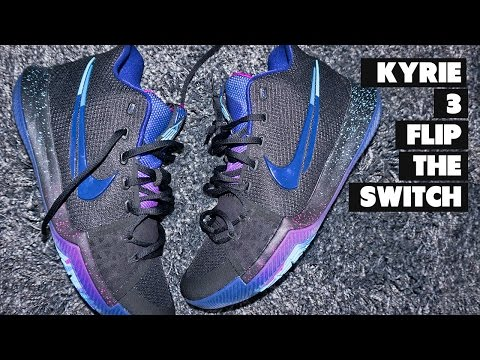 Kyrie 3 Flip The Switch On Foot + RANT