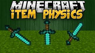 Minecraft Mods || ITEM PHYSICS!!! || Mod Showcase [1.7.10]