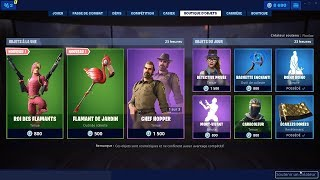 FORTNITE [ NEW SKIN: PORT ROI - PIOCHE: JARDIN FLAMINGO ] 06-07-2019