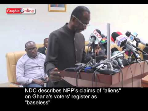 NDC responds to NPP's claims of aliens on Ghana's voters' register