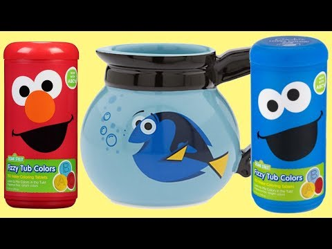 Thumbnail: SESAME STREET Fizzy Color Learn Mix Finding Dory Coffee Pot Fish Bowl Elmo Cookie Monster / TUYC