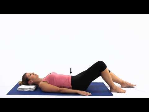 Pilates One leg stretch 1