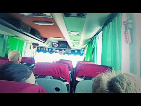 Краснодар , Крым, дорога через мост на автобусе