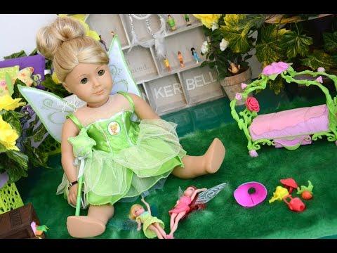 American Girl Doll Disney Tinker Bell Bedroom ~ Watch in HD!