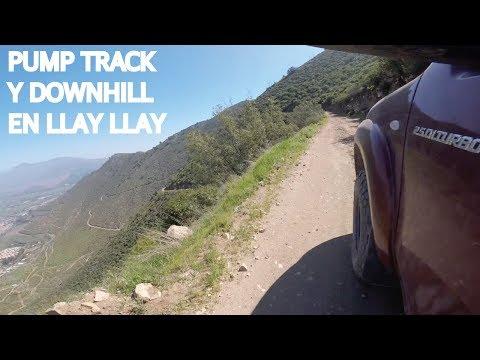 Pump track y downhill en Llay Llay
