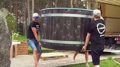 Installation of a Kirami hot tub